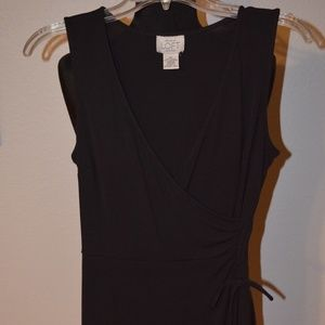 KNEE DRESS Size 6 Petite ANN TAYLOR LOFT  Black